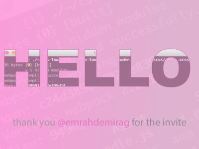 Hello Dribble thank you invite hello dribbble debut