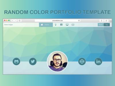Random color portfolio template web design web ux ui responsive product ecommerce dribbble cart
