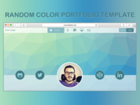 Random color portfolio template