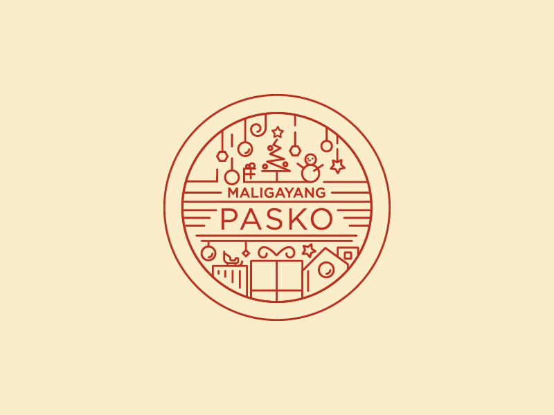 Merry Christmas In Filipino.Maligayang Pasko Merry Christmas By Mj Tangonan On Dribbble