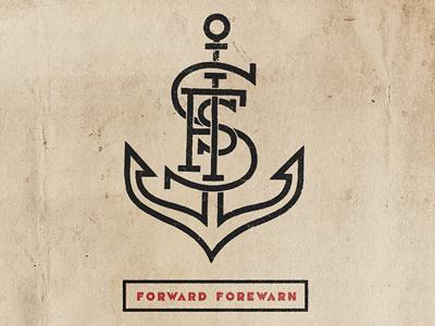 Anchor anchor logo icon typography branding custom type match  kerosene match and kerosene forward forwarn