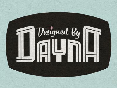 Designed By Dayna match and kerosene alex sheldon logo match  kerosene inline typography 1940s retro