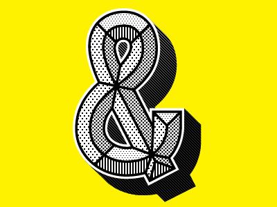 & ampersand prismatic pattern lettering font alphabet typeface matchandkerosene beveled bevel chisel chiseld 3d convex custom type custom lettering prismatiq