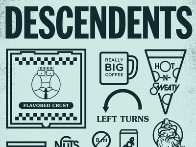 Descendents 12x18 Poster 1 Color lays chips vernors pop faygo kars nuts hungry howies milo pizza mug descendents michigan