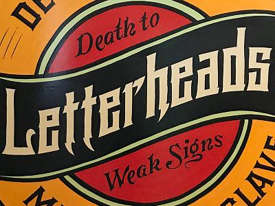 Detroit Letterheads 2017 brush enamel signs michigan detroit sign painting letterheads lettering 1-shot