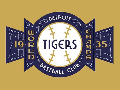 1935 Detroit Tigers World Series Champs vintage sports baseball michigan champs world series champions 1935 tigers detroit
