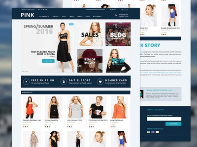 Pink - E-commerce Landing Page by Sinziana Susa - Dribbble