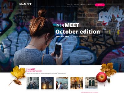 Instameet - Presentation website