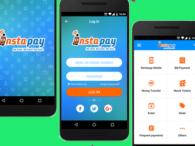 InstaPay App app mobile app andoid app android payment app ui product design