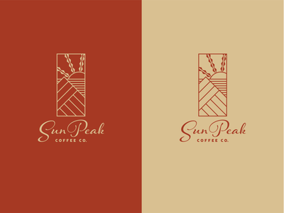 Sun Peak Coffee Co Logo sanserif contrast culture traditional warm monoline clean hawaii cafe logo coffee identity design identity illustrator branding minimal typography vector illustration design logo