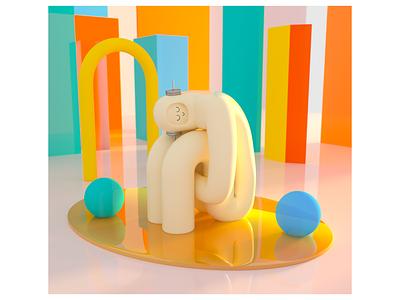 Robot #5 toy robot colorful c4d cinema4d cinema 3d character design cinema 4d 3d rendering 3d illustration