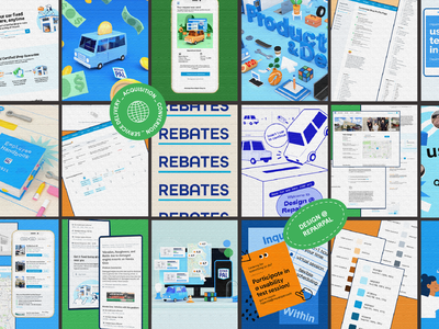 Design @ RepairPal employee experience web interface design tech design team color palette ui design mockup user research auto mechanic car repair collage 3d illustration