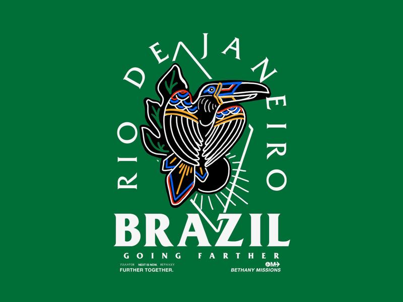 Brazil T-Shirt brazil missions church merch graphic design illustrator photoshop procreate illustration art direction design