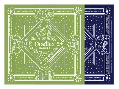Bandanas swag design tools pattern creative market bandana