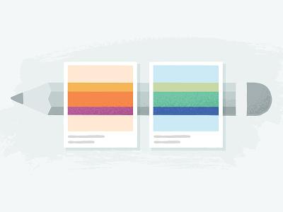 Color Exercise creative market gradient swatch pencil color