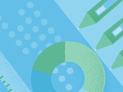 September bundle green blue pen shapes pattern vector design illustration creative market