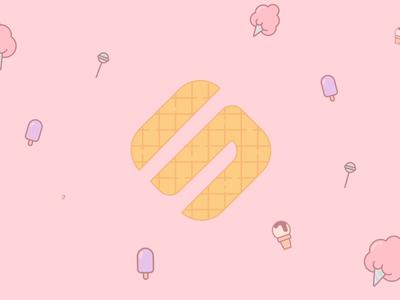 Softmogul logo animation part 2 softmogul hotel hotels simple animation fluid animation gaming game space rebrand video brand brand retro sweat cream ice cream logo animation motion animation