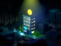 Hotel Softmogul Illustration 3d
