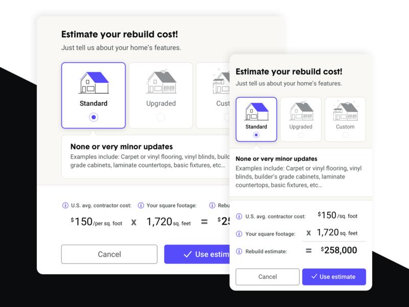 Rebuild cost estimator