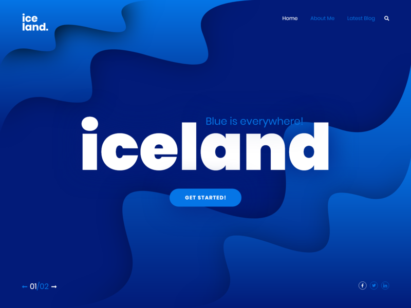 Iceland Landing Page