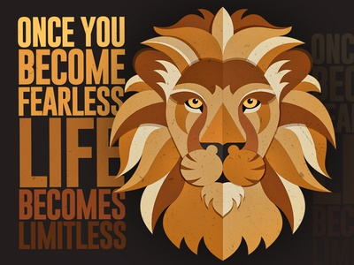 Lion Head Vector with Quote