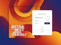 Gradient Sign In Page