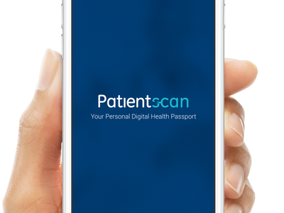 Patientscan typography ui design interaction ux innovation mobile healthcare