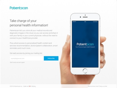 Patientscan ios typography grid minimalism development design health innovation healthcare website
