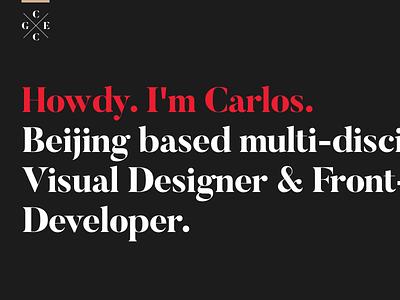 My personal website ios typography minimalism development design grid innovation website