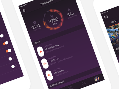 Fitness Tracking App ios ux ui iphone fitness tracking mobile innovation design