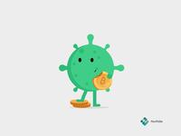 Corona Affects Bitcoin nexfolio coronavirus virus trading cryptocurrency bitcoin character animation covid19 corona illustration design animation
