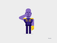Corona is just Thanos in disguise creative marvel virus coronavirus design rig concept character animation character design thanos covid19 corona vector illustration animation