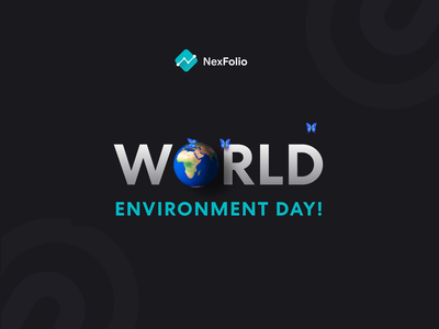 World Environment Day butterfly vector design icon logo branding nexfolio world icon animation illustration animation