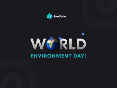 World Environment Day butterfly vector design icon logo branding nexfolio world icon animation illustration animation