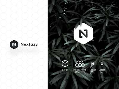 Nextazy Logo | Blockchain block brand identity nextazy blockchaintechnology blockchain vector illustration design typography icon branding logo