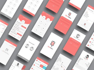 Blood Donor App blood bank blood donor app blood app material design donor app blood donor category blood design ui app donor