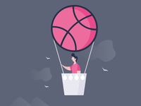 Dribbble Sticker playoff