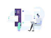 Landing Page illustration for slack plugin