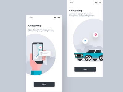 Taxi App Onboarding map car ui kit ui cab taxi app design vector welcome screen onboarding walkthrough illustration