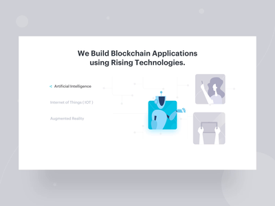 Rising Technologies Animation technology banner blockchain web design augmented reality iot artificial intelligence icon animation icon ui design illustration animation