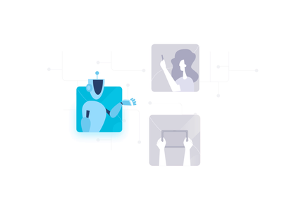 AI, IOT, AR animation augmented reality iot artificial intelligence character motion design web icon vector icon animation design illustration animation