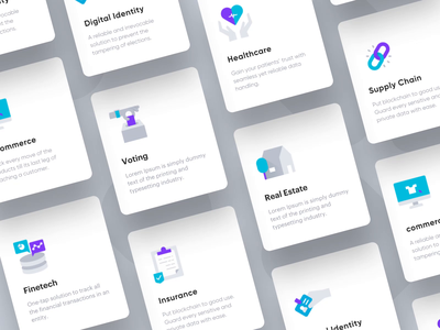 Blockchain Services Icon Animation landing page website blockchain design ui services logo animation vector icon animation icon illustration animation