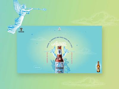 Trindade - craft beer website awwwards botle cerveja illustration handmade interface ui ux portugal beer craft