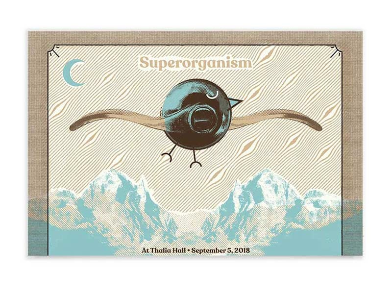 Superorganism - Tour Posters tour poster chicago superorganism album art band art band poster printmaking gig poster screen print poster