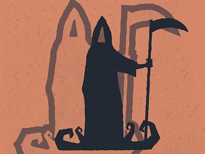 Reaper death scary spooky halloween halftone texture reaper grim reaper