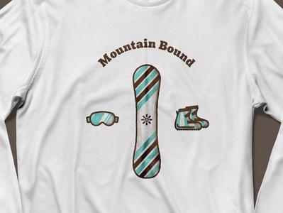 Mountain Bound Shirt sketch skiing colorado goggles ski snowboard mountains texture t shirt screen print