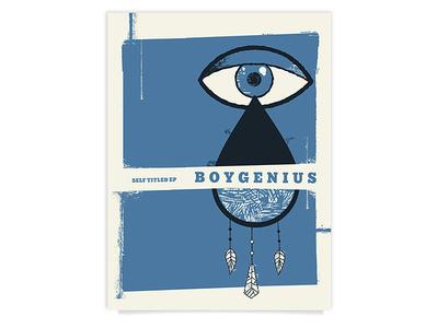 Boygenius Fake Poster boygenius dream catcher eye band poster poster gig poster texture screen print
