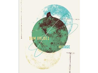 Sam Valdez Poster typography retro supply printmaking sam valdez mirage planet texture poster screen print