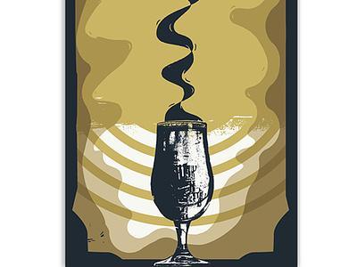 Print Exchange photoshop magic blackarts tarot smoke glass chalice cup texture screenprint printmaking