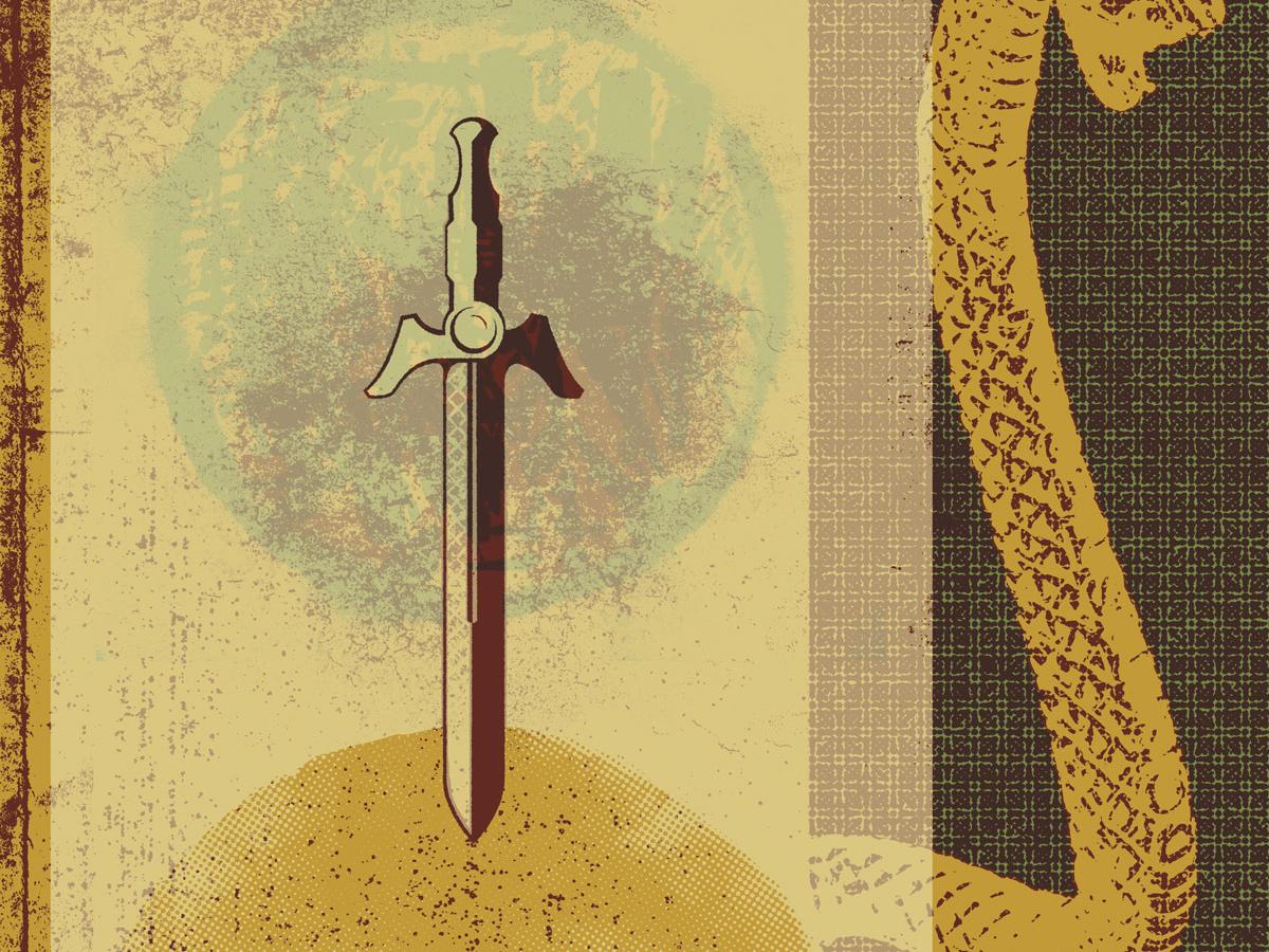 Collage skull art vector sword snake texture collage screen print